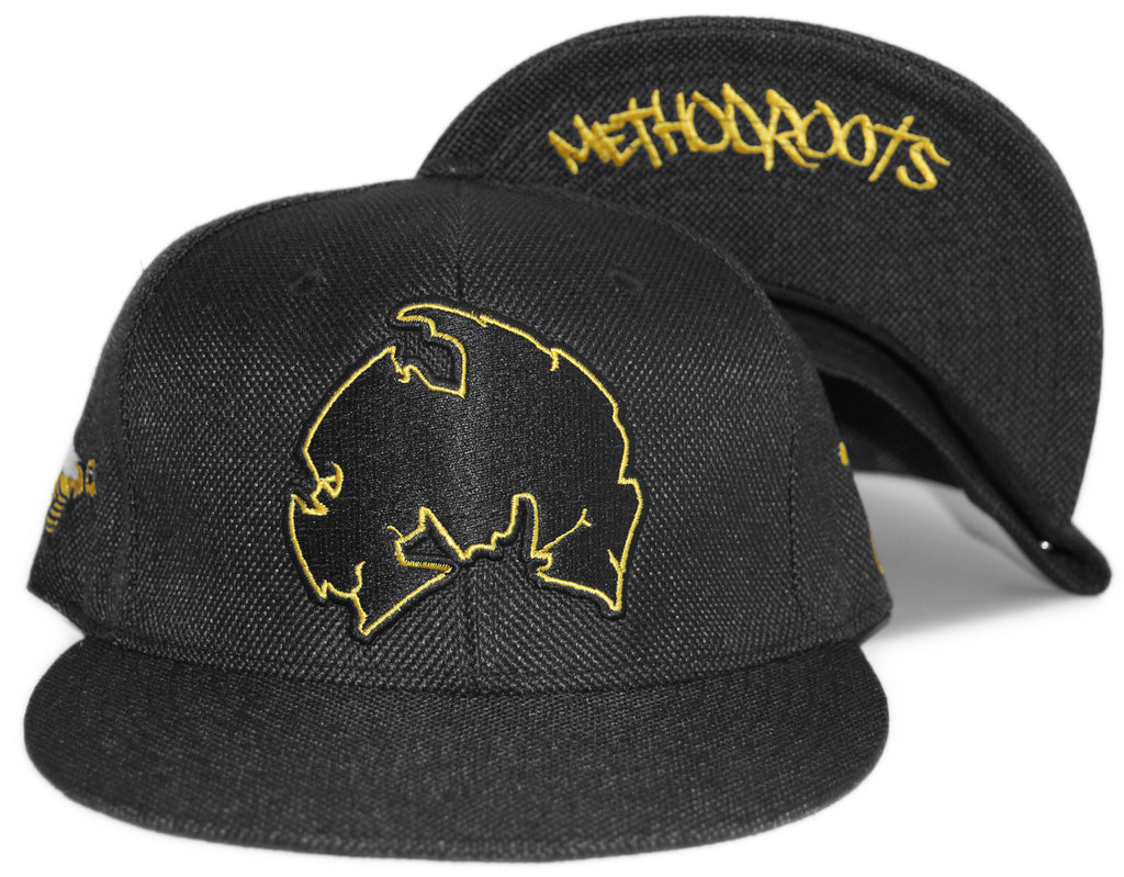 <!--2012041043-->Grassroots x Method Man (of Wu-Tang Clan) - 'Killa Bee v. 3' [(Black) Fitted Hat]