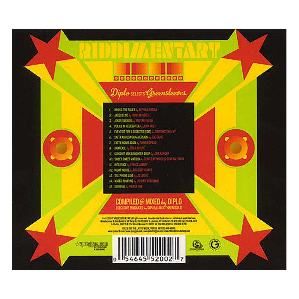 <!--120110222028165-->Diplo x Greensleeves Records - 'Riddimentary' [CD]
