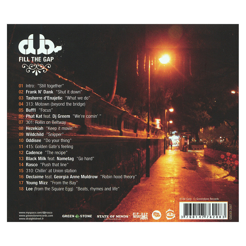<!--120071225012755-->DJ Brasco - 'Fill The Gap' [CD]