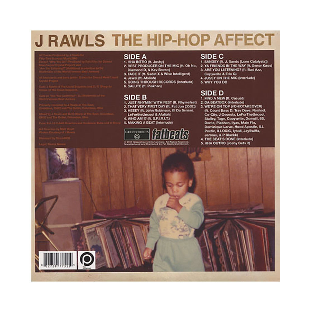 <!--020110628030482-->J. Rawls - 'The Hip Hop Affect' [(Black) Vinyl [2LP]]