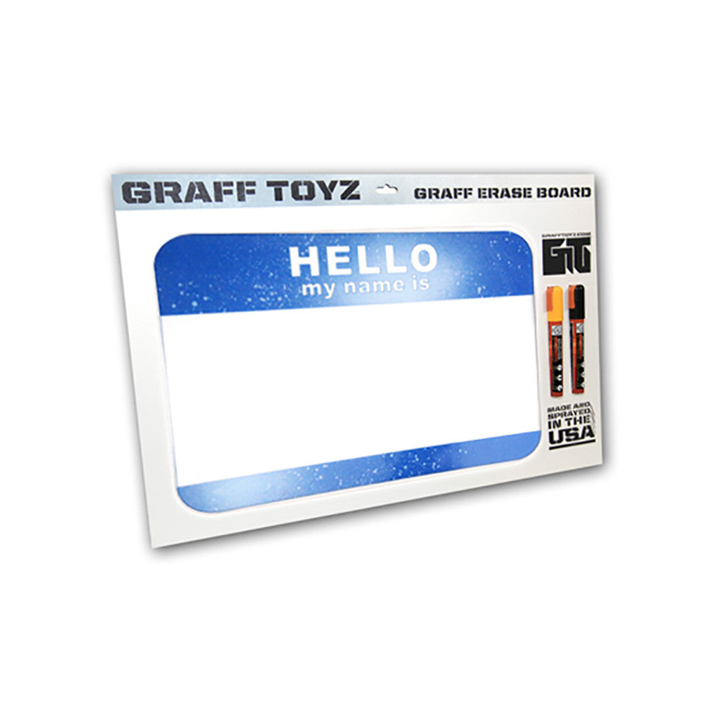 <!--020100706022415-->GRAFF TOYZ - 'Hello - Sky's The Limit' & [Dry Erase Board]