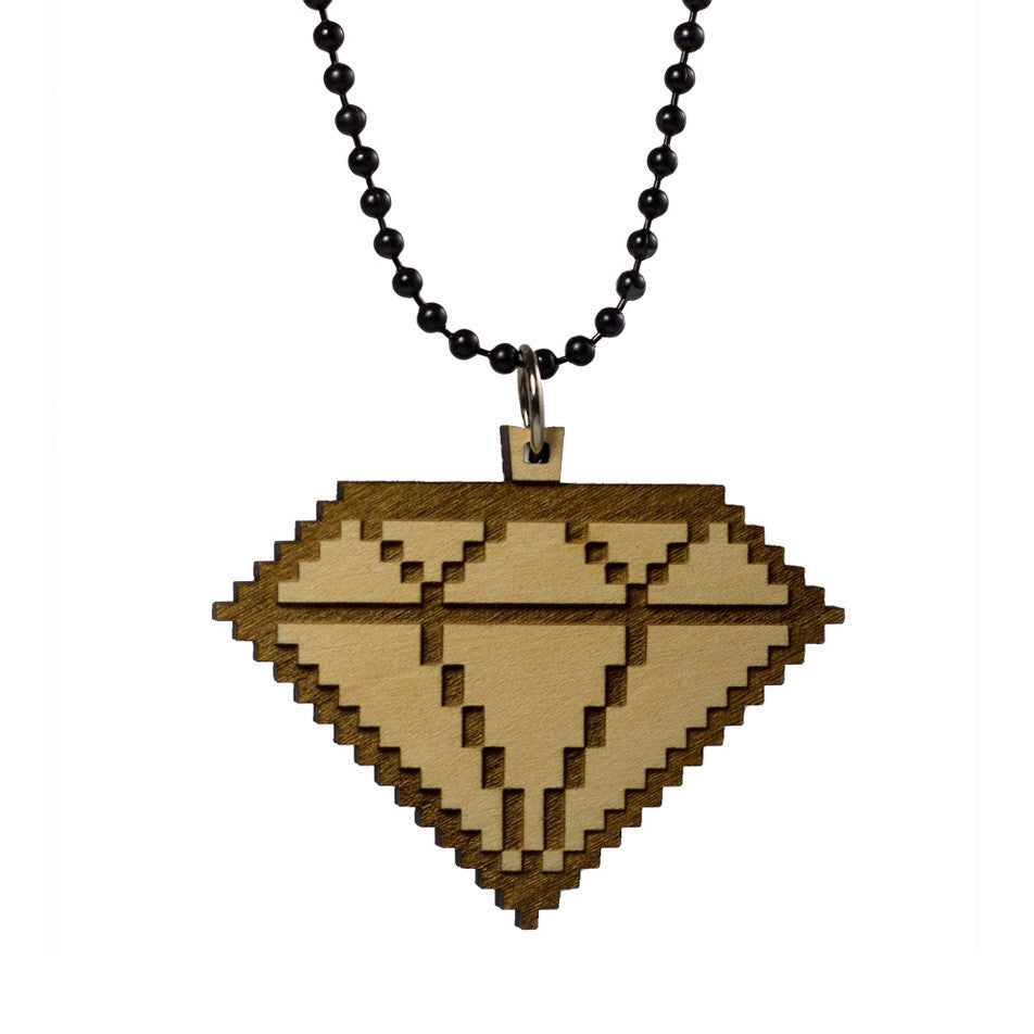 <!--020121106051634-->GoodWood - '8 Bit Diamond' [(Wood) Necklace]