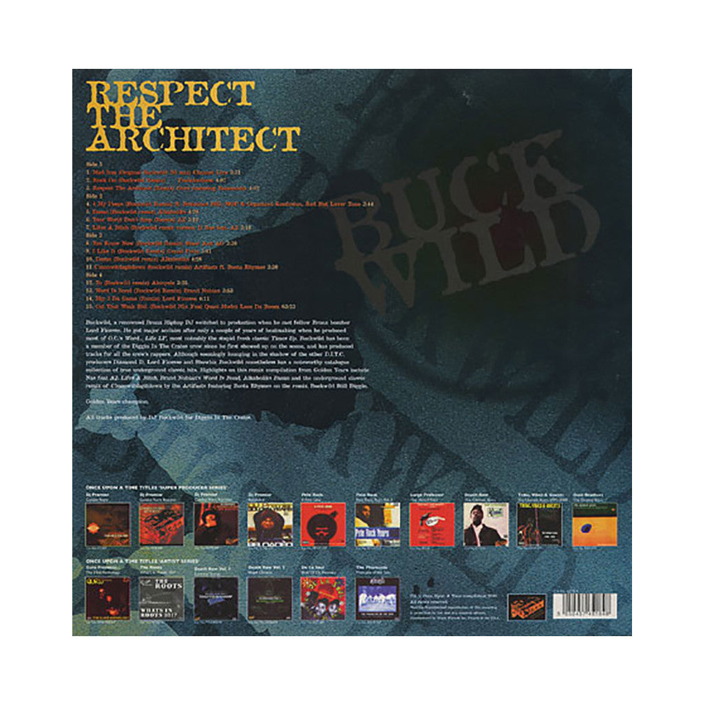 Buckwild (of D.I.T.C.) (Once Upon A Time Presents) - 'Respect The Architect (Golden Years Vol. 8)' [(Black) Vinyl [2LP]]