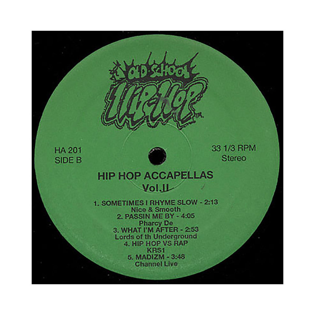Old School Hip Hop - 'Hip Hop Accapellas Vol. 2' [(Black) Vinyl LP]