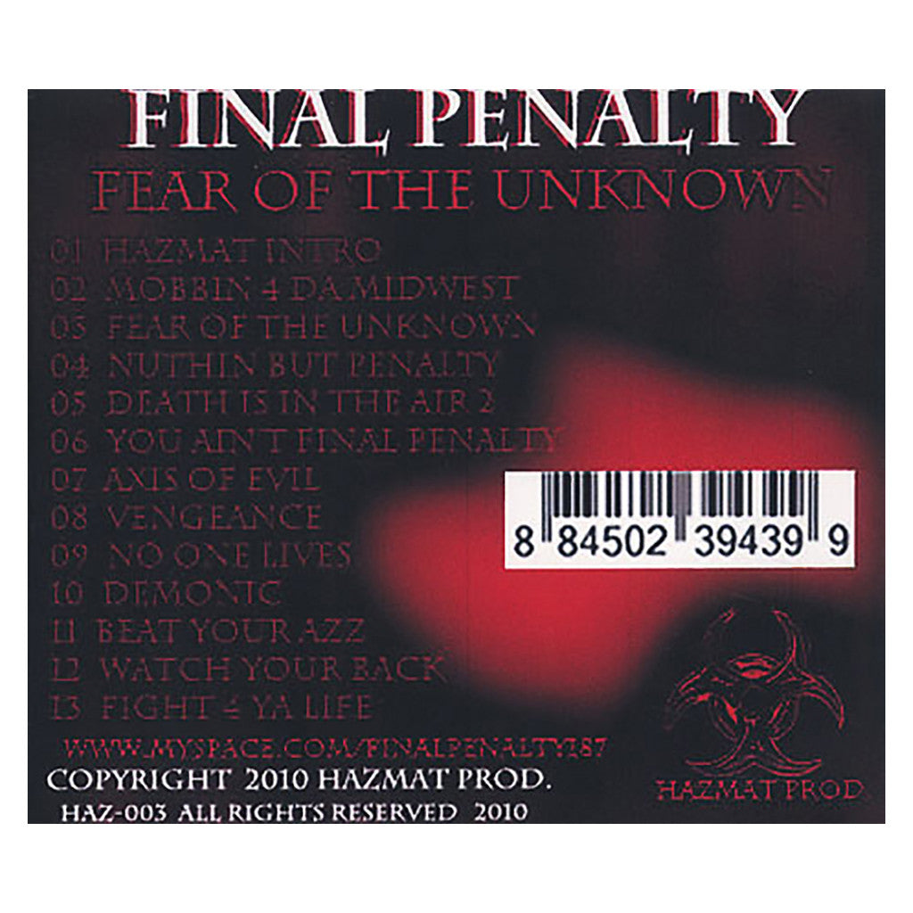 <!--020100309022758-->Final Penalty - 'Fear Of The Unknown' [CD]