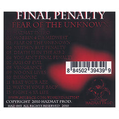 Final Penalty - 'Fear Of The Unknown' [CD]