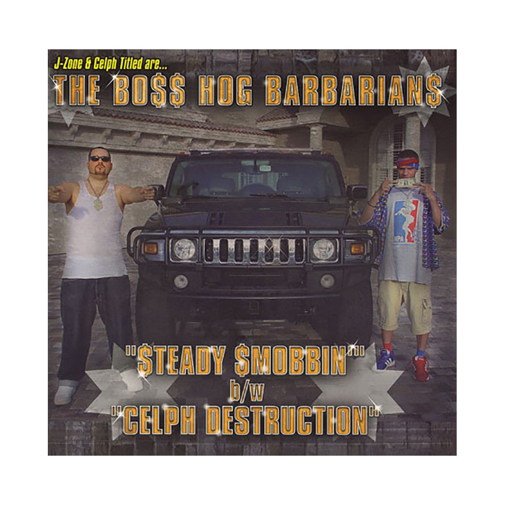 "The Boss Hog Barbarians - '$teady $mobbin/ Celph Destruction' [(Black) 12"" Vinyl Single]"