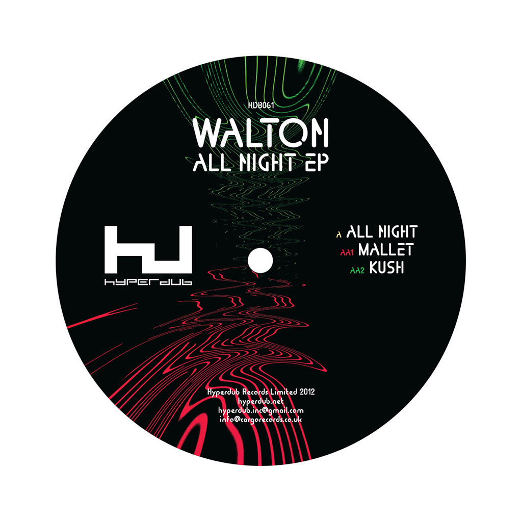 "<!--120120529044918-->Walton - 'All Night/ Mallet/ Kush' [(Black) 12"" Vinyl Single]"