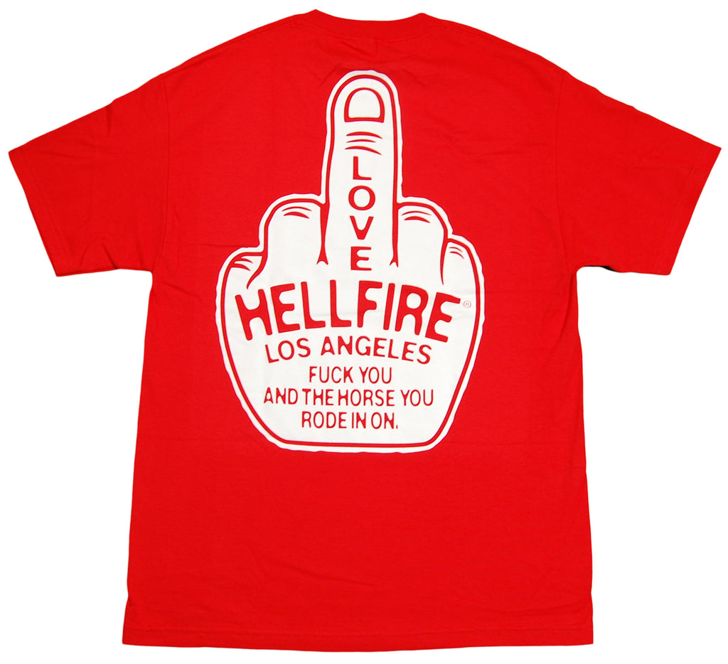 <!--2012072455-->Hell Fire Canyon Club - 'Middle Finger' [(Red) T-Shirt]