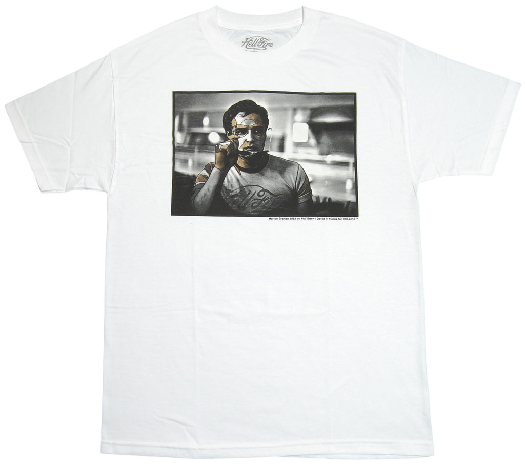 <!--2012072412-->Hell Fire Canyon Club x David Flores - 'DF Brando' [(White) T-Shirt]