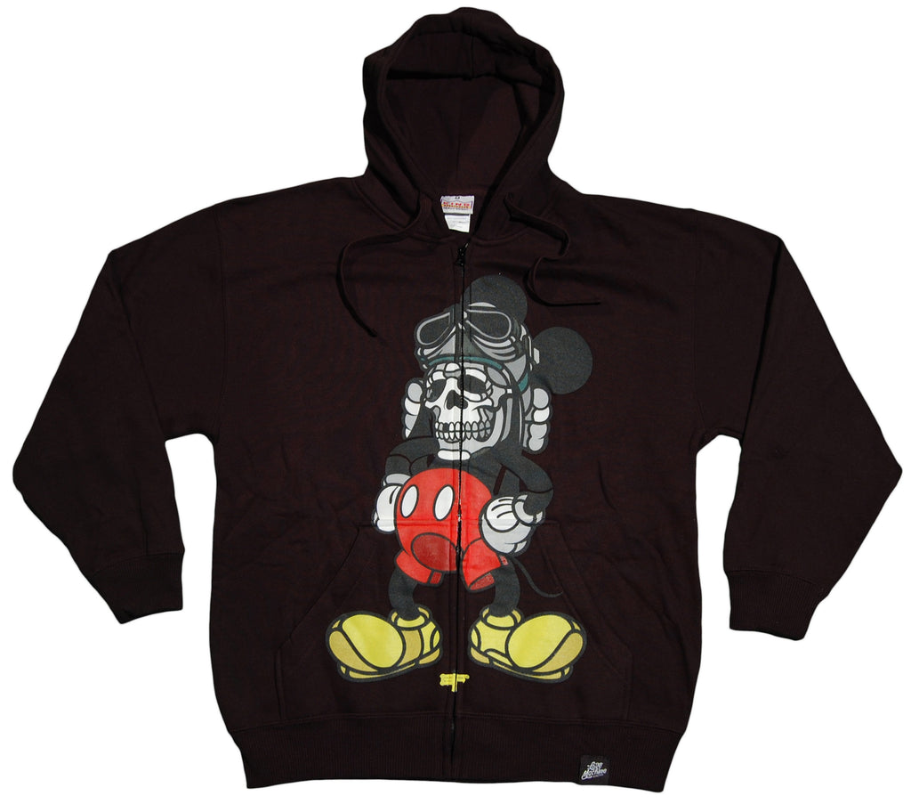 <!--2012072426-->Hell Fire Canyon Club x David Flores - 'Deathead' [(Black) Hooded Sweatshirt]