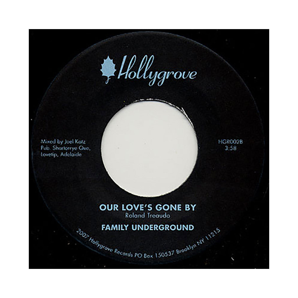 "<!--020080930016141-->Family Underground - 'Nowhere To Run/ Our Love's Gone By' [(Black) 7"" Vinyl Single]"