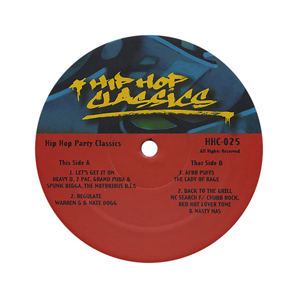 "Hip Hop Classics (Heavy D, 2Pac, Grand Puba, The Notorious B.I.G., Warren G, Nate Dogg, MC Serch) - 'Vol. 25 (Hip Hop Party Classics)' [(Black) 12"" Vinyl Single]"