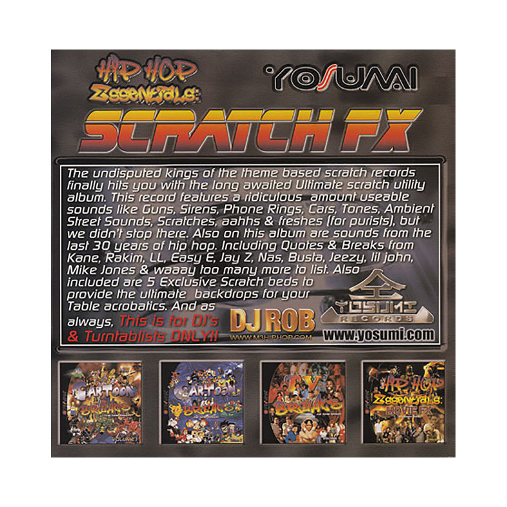 DJ Rob - 'Scratch FX Vol. 1' [(Black) Vinyl LP]
