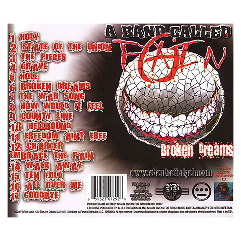 <!--020070710010606-->A Band Called Pain - 'Broken Dreams' [CD]