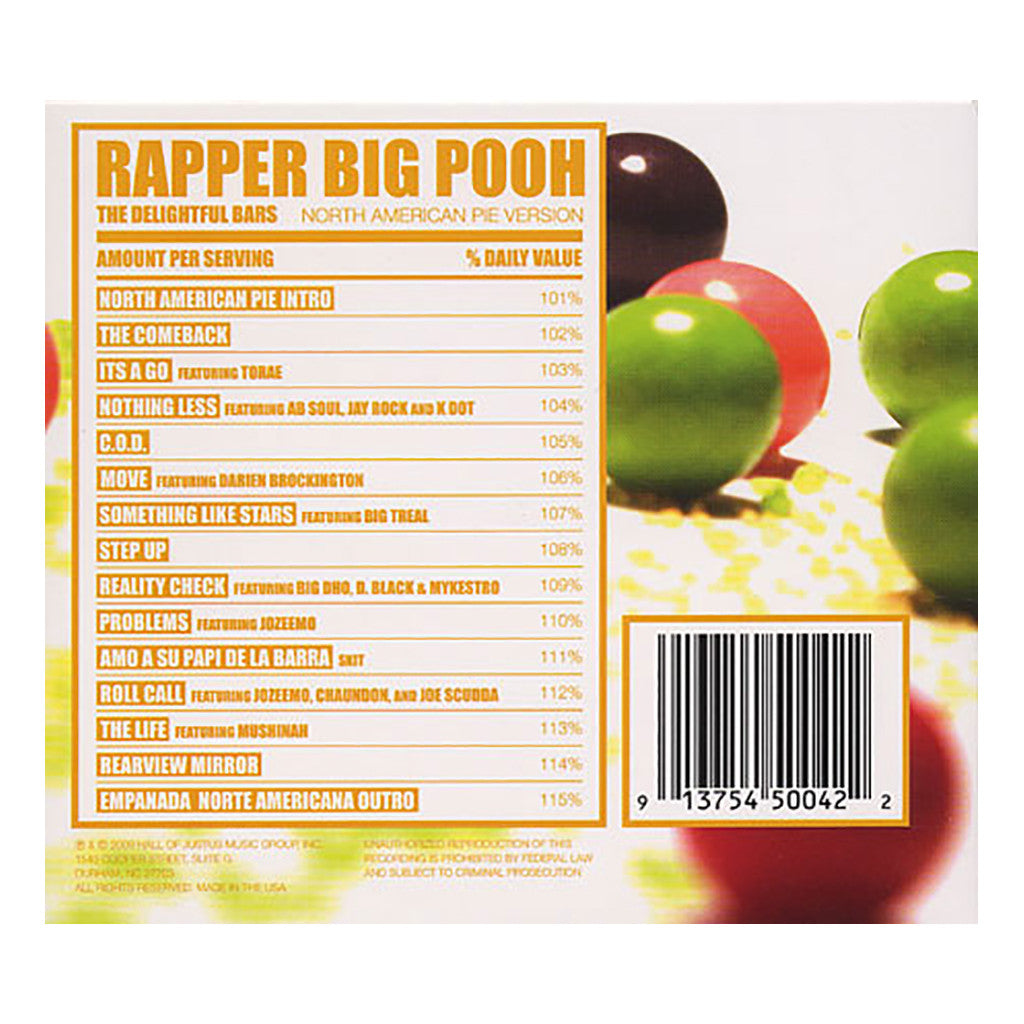 <!--120090505016542-->Rapper Big Pooh - 'The Delightful Bars: North American Pie Version' [CD]