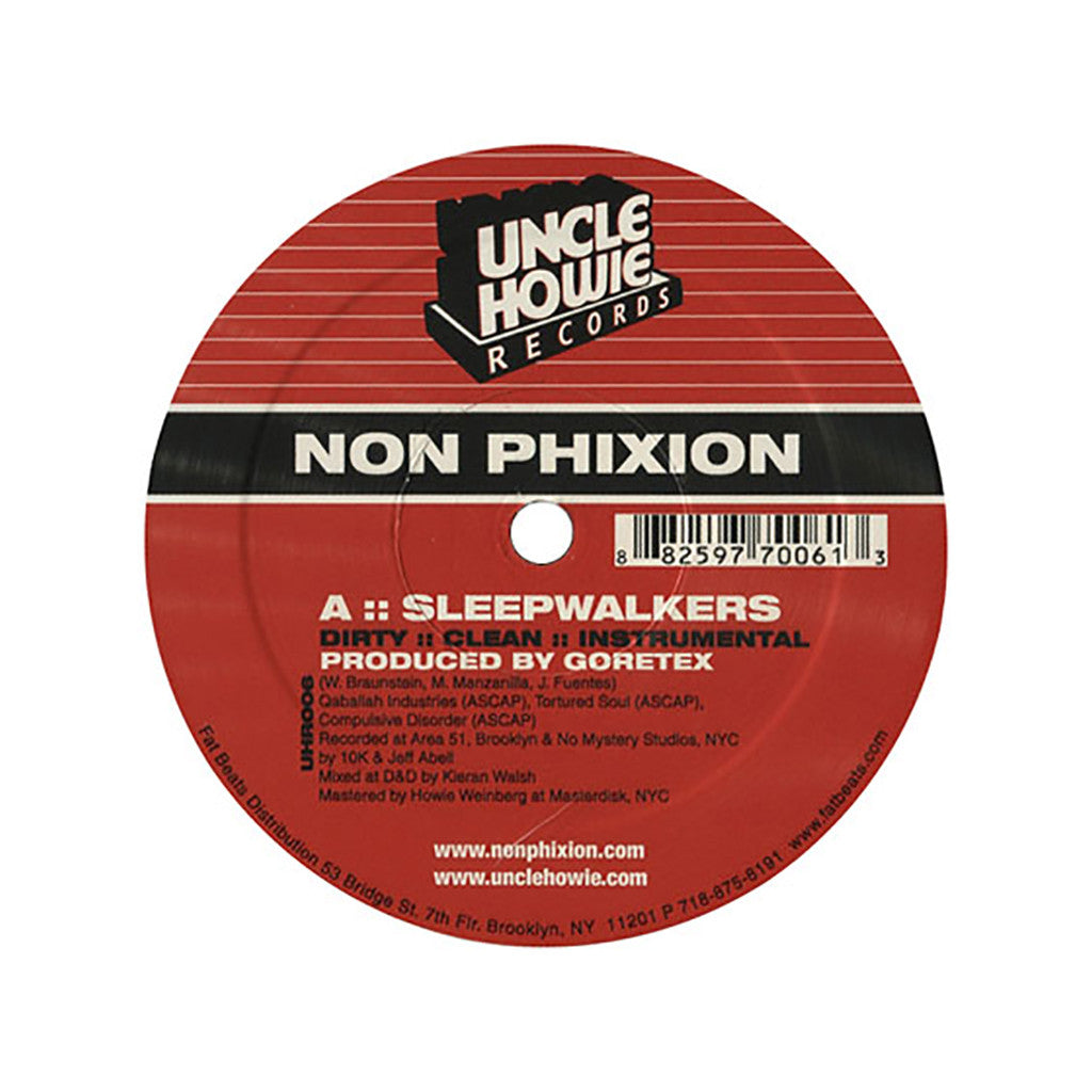 "<!--020010710011789-->Non Phixion - 'Sleepwalkers/ Thug Tunin' [(Black) 12"" Vinyl Single]"