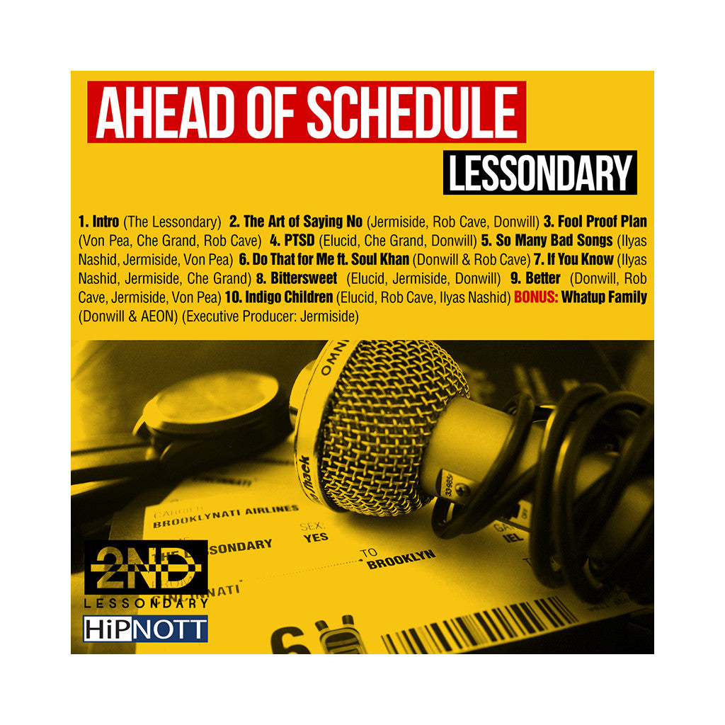 Lessondary - 'Ahead Of Schedule' [CD]