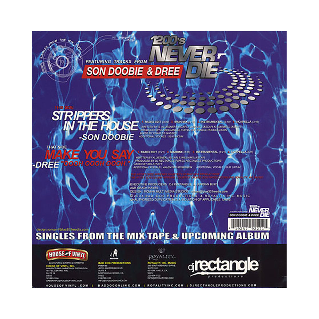 "<!--020030812012318-->DJ Rectangle - 'Strippers In The House/ Make You Say ""Oooh Oooh Oooh""' [(White) 12"" Vinyl Single]"