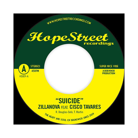 "[""Zillanova - 'Suicide/ The Time It Takes' [(Black) 7\"" Vinyl Single]""]"