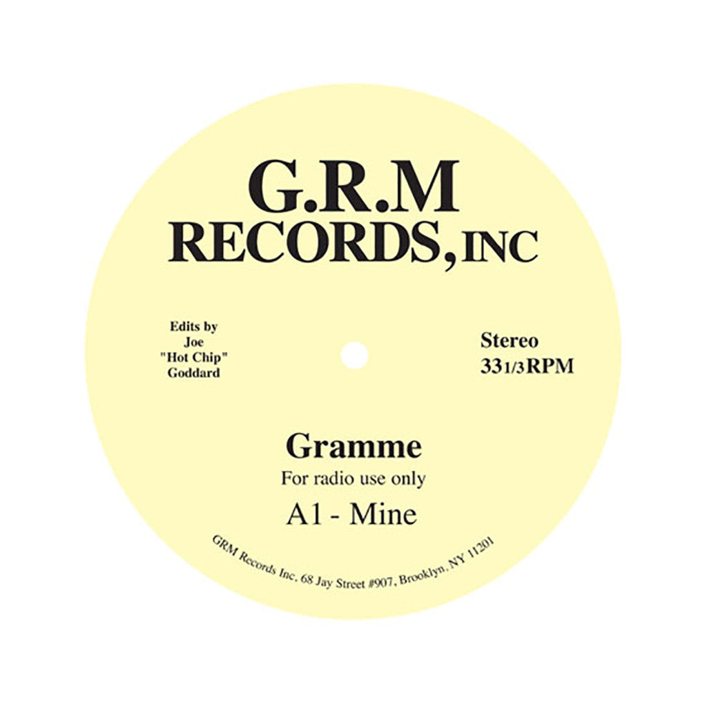"<!--020111011034554-->Gramme - 'Mine/ Like You (Hot Chip Edits)' [(Black) 12"""" Vinyl Single]"