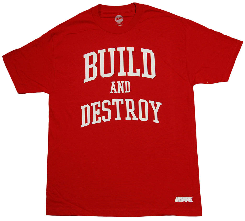 <!--2013060415-->HOPPS - 'Build And Destroy' [(Dark Red) T-Shirt]