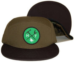 <!--2012111307-->Hippy Tree - 'Crest' [(Dark Green) Snap Back Hat]