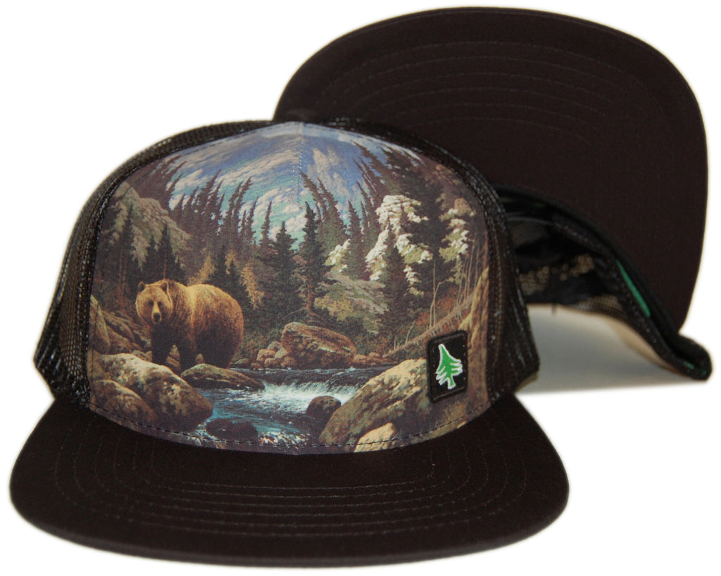 <!--2012111330-->Hippy Tree - 'Kodiak Mesh' [(Black) Snap Back Hat]