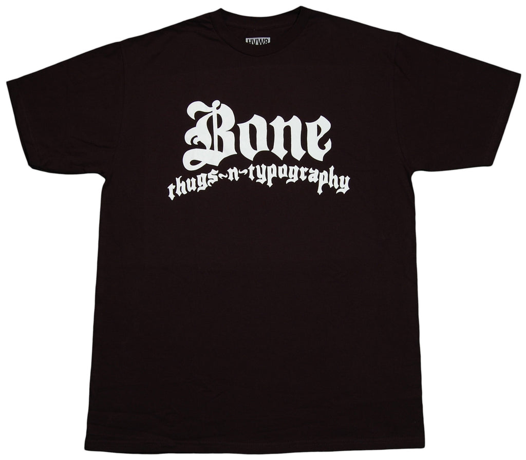 <!--2012011751-->HVW8 - 'Bone Thugs N Typography' [(Black) T-Shirt]