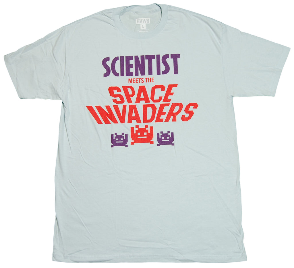 <!--2012011747-->HVW8 x Scientist - 'Scientist Meets The Space Invaders' [(Light Blue) T-Shirt]