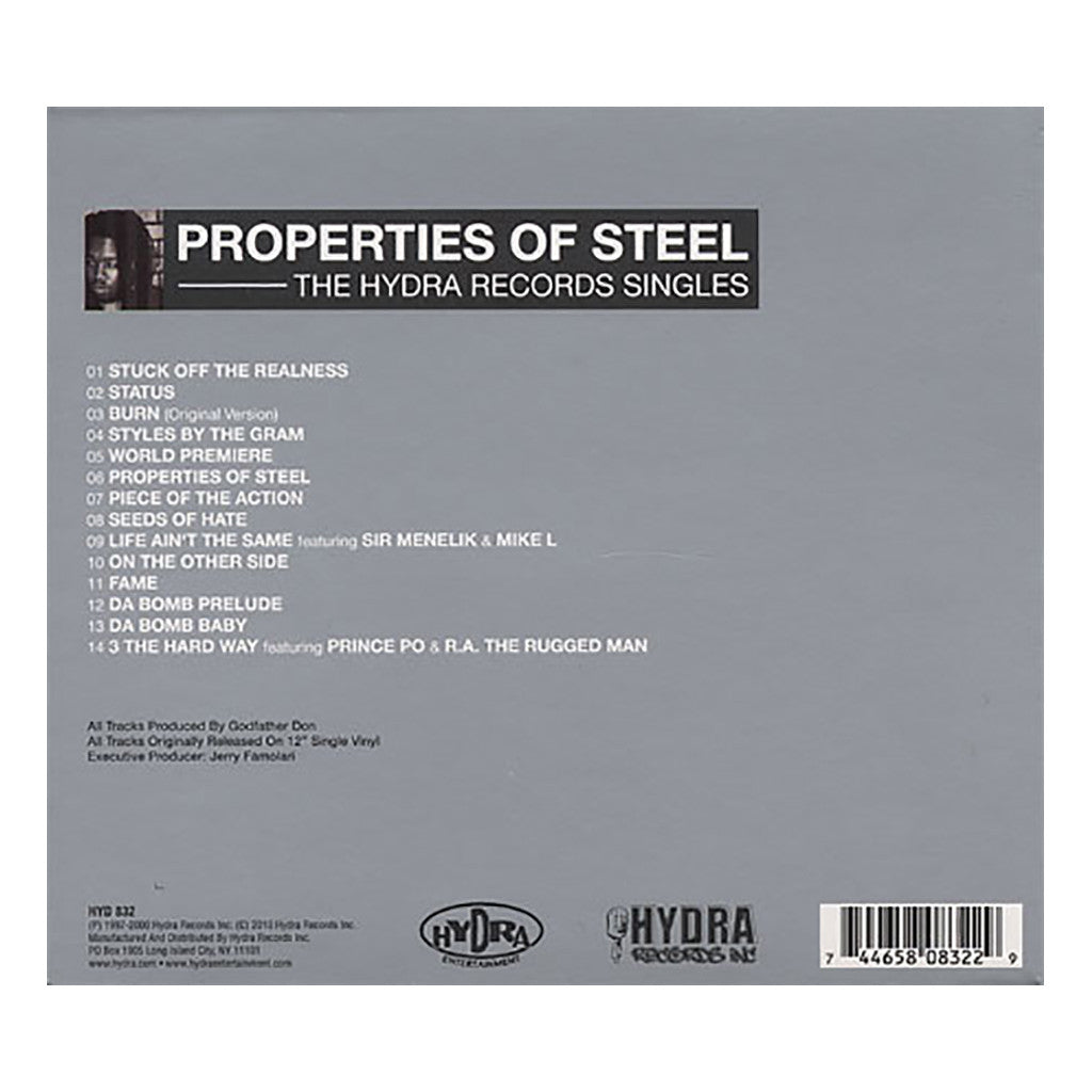 <!--020100810023167-->Godfather Don - 'Properties Of Steel: The Hyra Records Singles' [CD]
