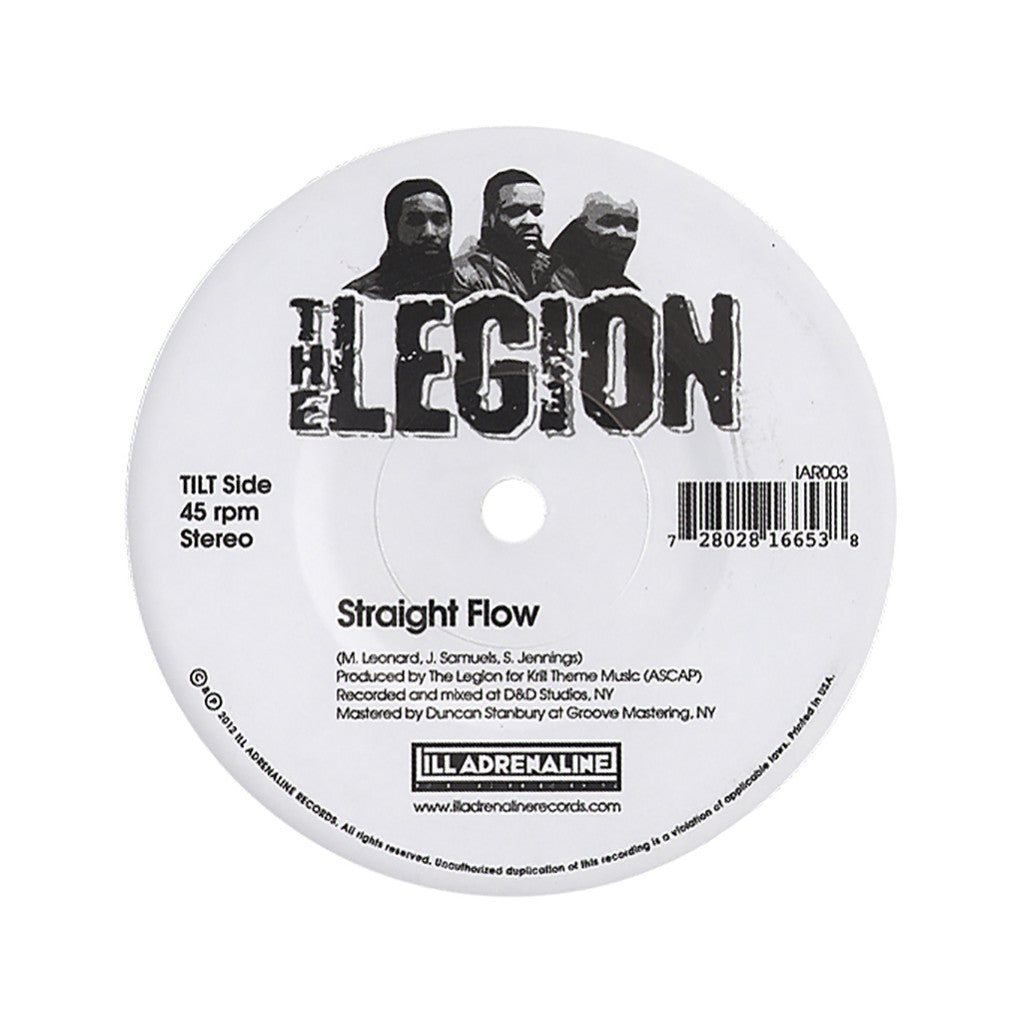 "<!--020120417040645-->The Legion - 'Straight Flow/ Automatic Systematic' [(Black) 7"" Vinyl Single]"