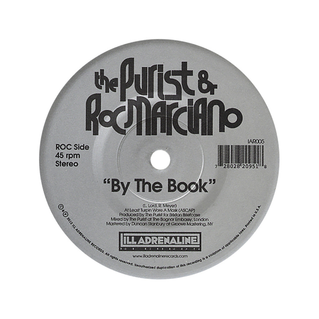 <!--2012092505-->The Purist & Roc Marciano - 'By The Book (INSTRUMENTAL)' [Streaming Audio]