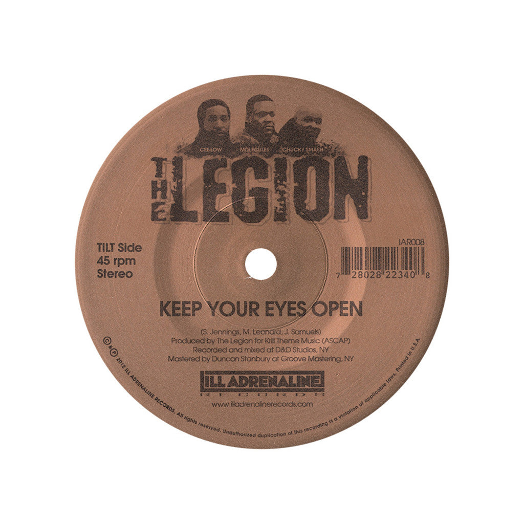 "<!--120130212052083-->The Legion - 'Keep Your Eyes Open/ Street Truth' [(Black) 7"" Vinyl Single]"