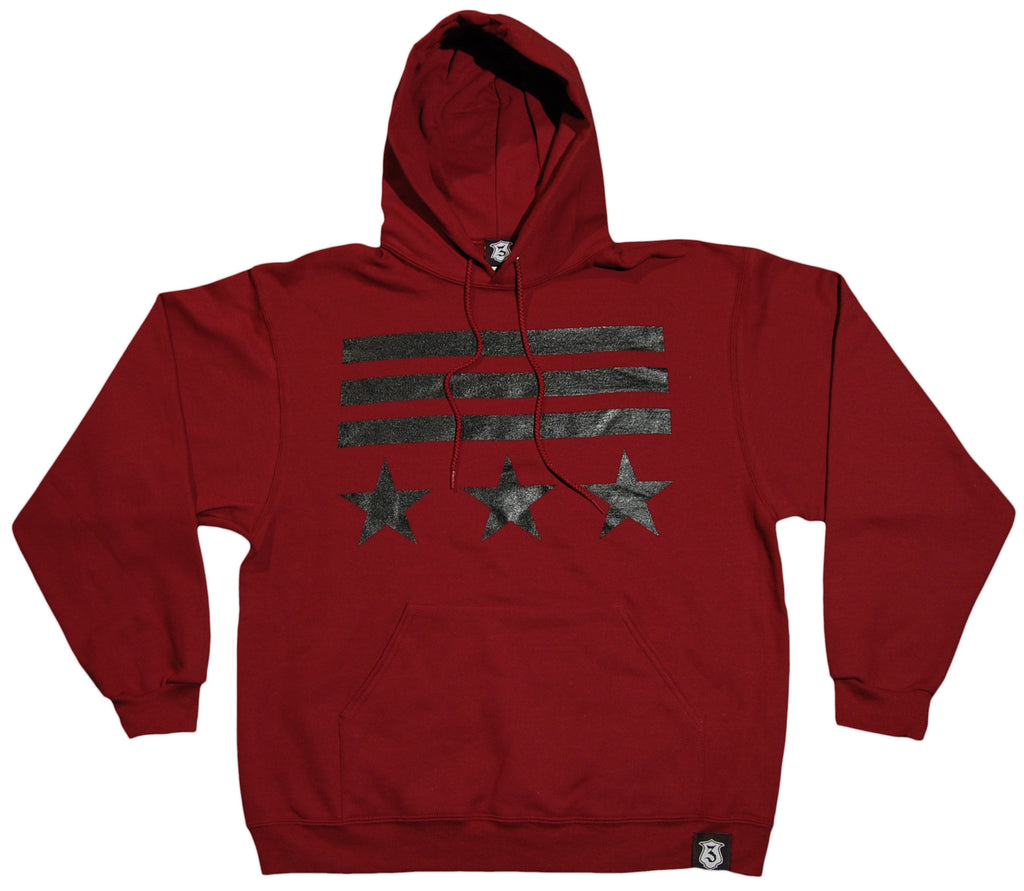 <!--2012022128-->IC3 - 'Commander' [(Dark Red) Hooded Sweatshirt]