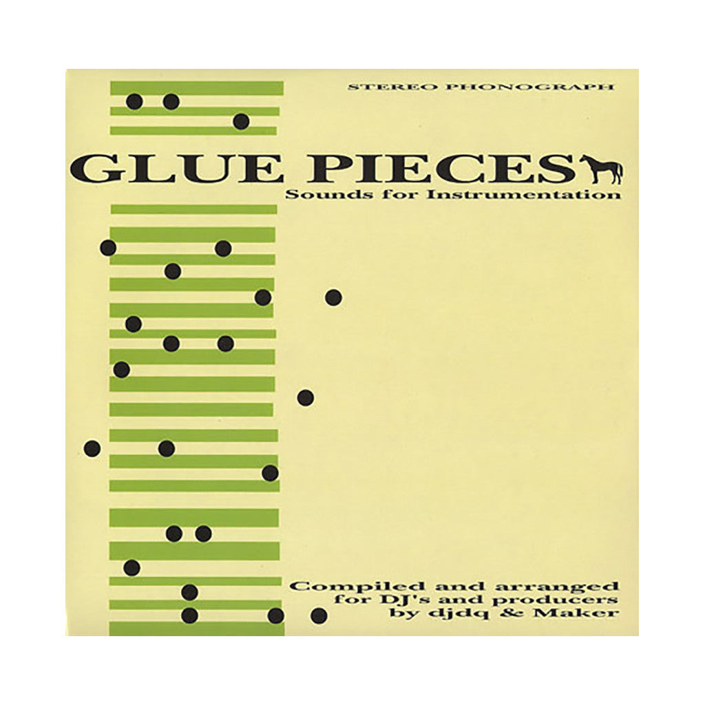 DJ DQ & Maker - 'Glue Pieces: Sounds For Instrumentation' [(Black) Vinyl LP]