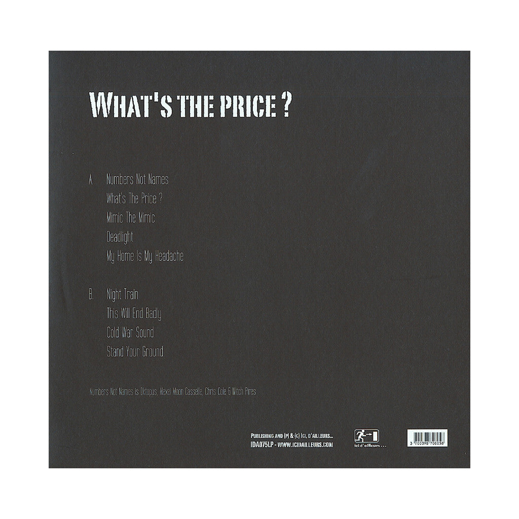 <!--2013082033-->Numbers Not Names - 'What's The Price?' [(Black) Vinyl LP]