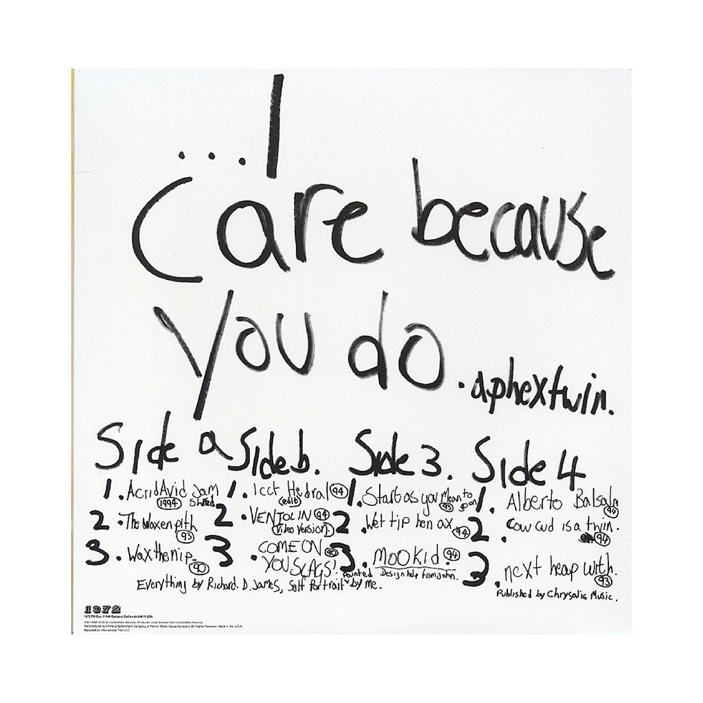 Aphex Twin - '...I Care Because You Do' [(Black) Vinyl [2LP]]