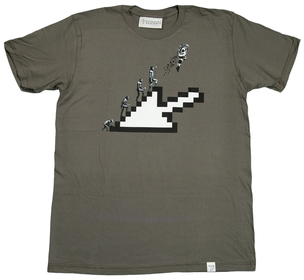 <!--2012022816-->Imaginary Foundation - 'Cursor Evolution' [(Dark Green) T-Shirt]