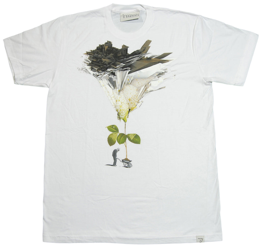 <!--2012120455-->Imaginary Foundation - 'Wheel Barrow' [(White) T-Shirt]