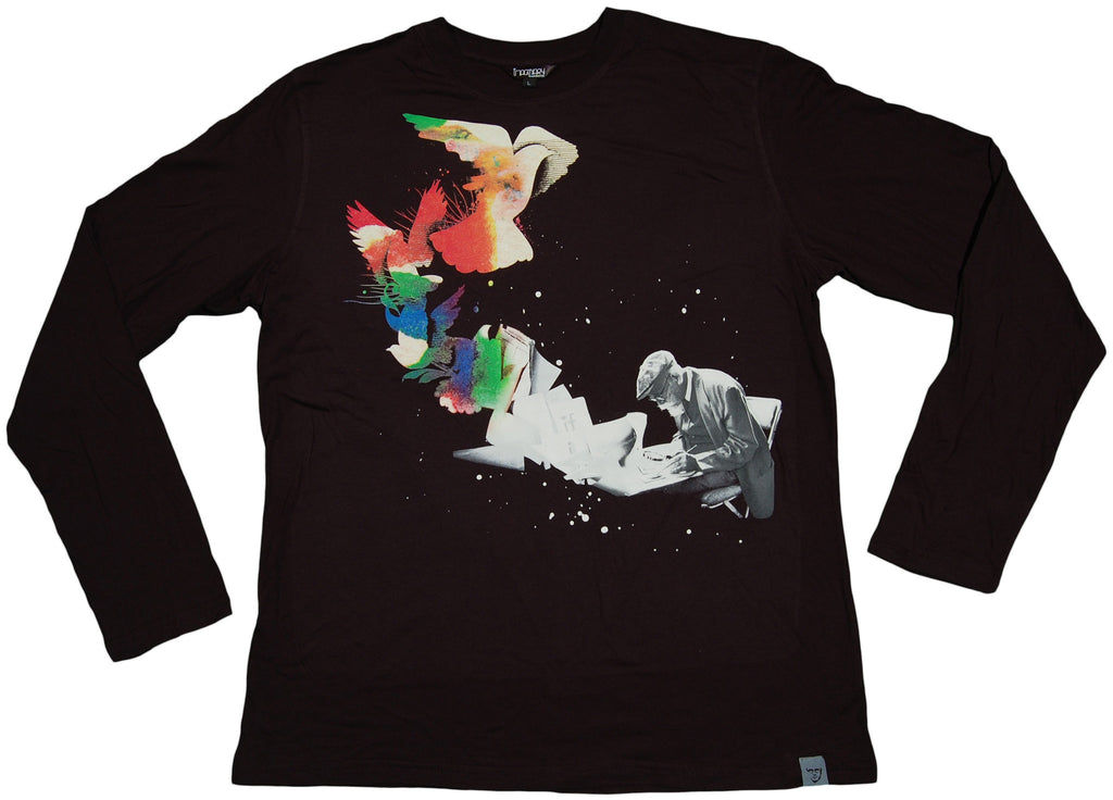 <!--2011091352-->Imaginary Foundation - 'Paint Peace' [(Black) Long Sleeve Shirt]