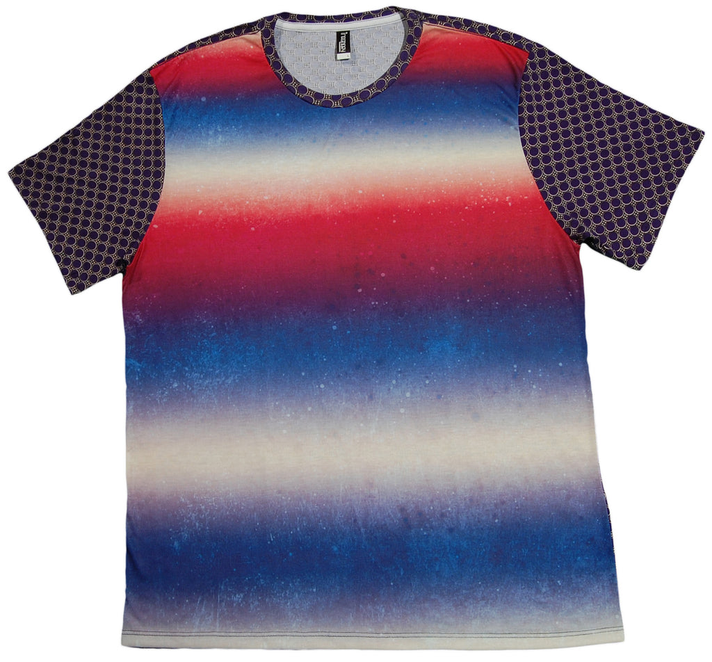 Imaginary Foundation - 'Pattern Clash - Blurred Line' [(Multi-Color) T-Shirt]