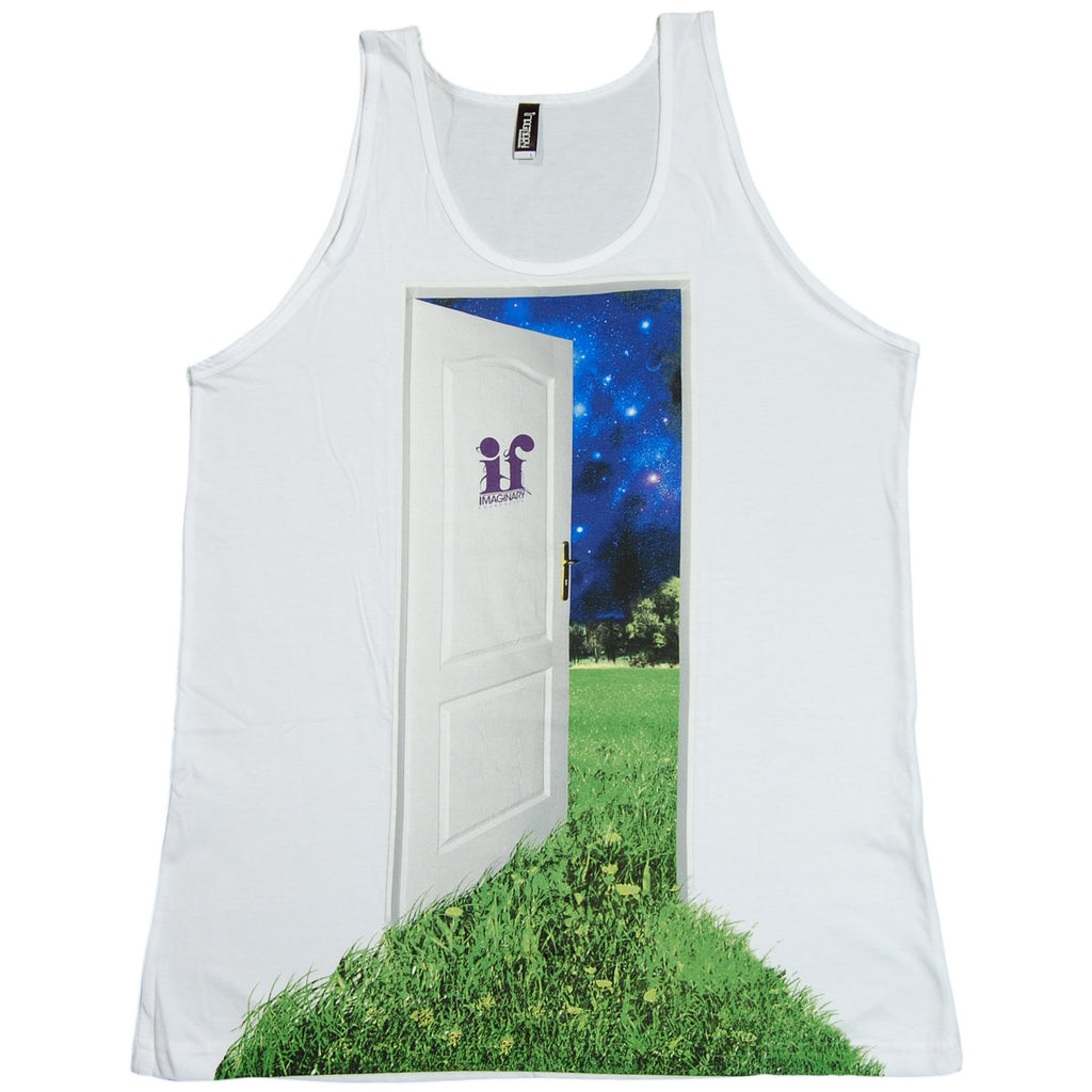 <!--2011091346-->Imaginary Foundation - 'Doorway' [(White) Tank Top]