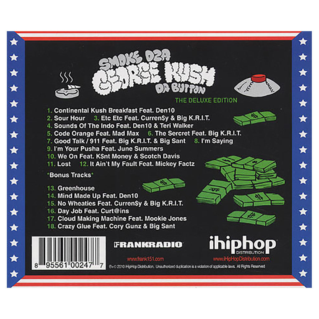 <!--120101109023969-->Smoke DZA - 'George Kush Da Button (Deluxe Edition)' [CD]