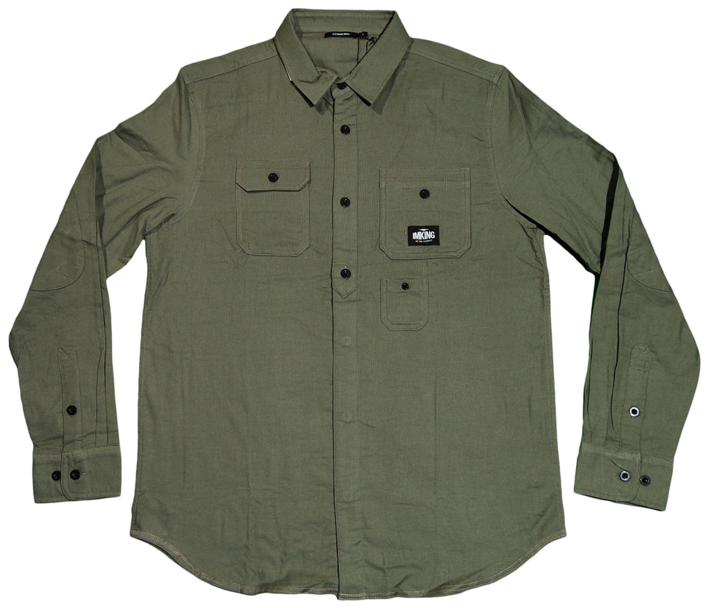 <!--2012011034-->IM King - 'Benny Woven' [(Dark Green) Button Down Shirt]