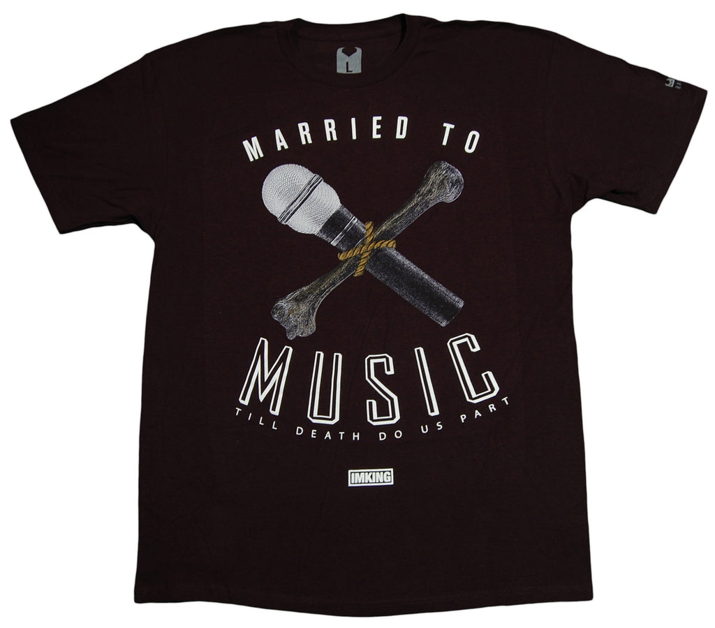 <!--2012121805-->IM King - 'Married To Music' [(Black) T-Shirt]