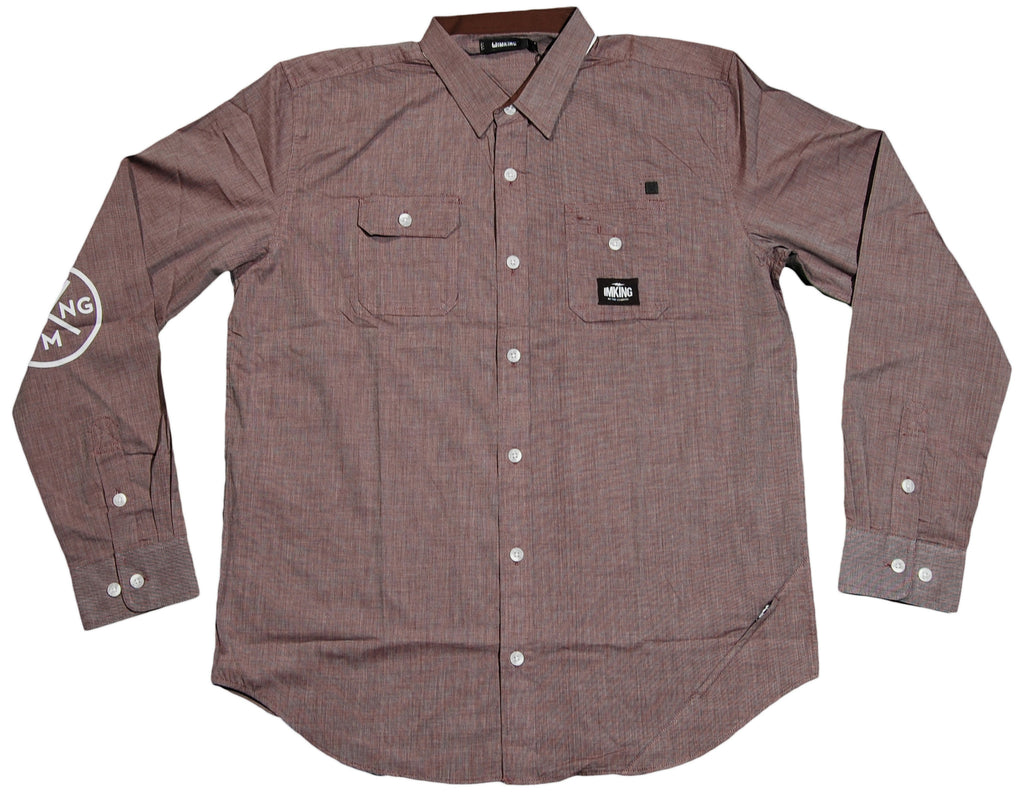 <!--2012052225-->IM King - 'Goose' [(Brown) Button Down Shirt]