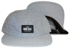 <!--020120522045145-->IM King - 'Leaders - Railroad Stripe' [(Light Blue) Five Panel Camper Hat]