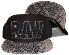 <!--020130319055010-->IM King - 'Raw' [(Black) Strap Back Hat]