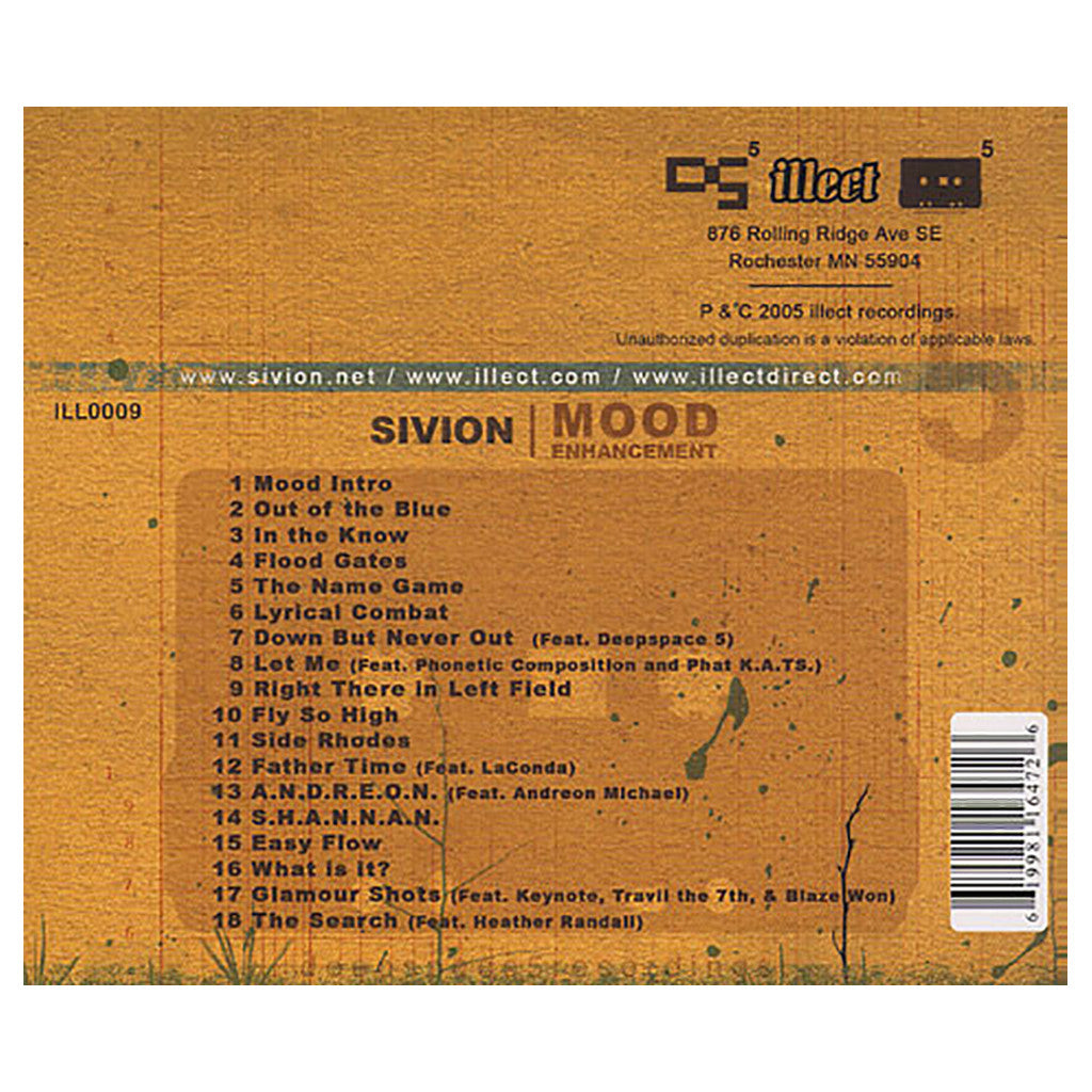 Sivion - 'Mood Enhancement' [CD]